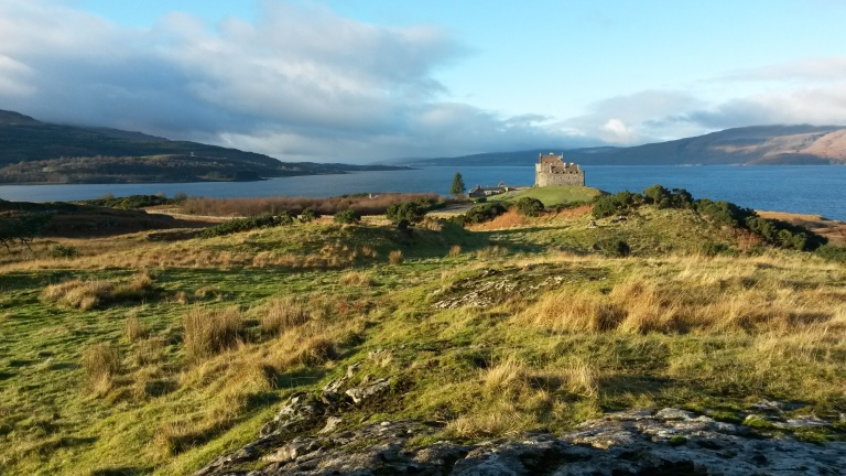 Duart Castle on Mull - can you spot the illustrators in the distance?