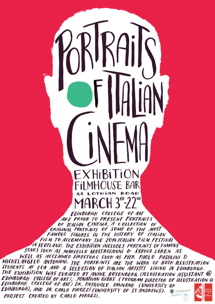 Portraits of Italian Cinema - poster by Anine Boesenberg