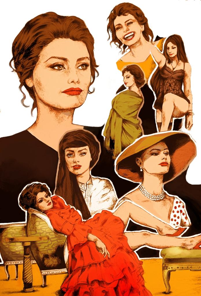 Sophia Loren by Sara Ljeskovac