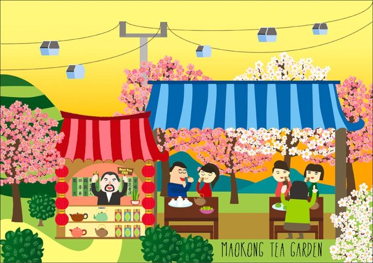 maokong-tea-garden-illustration