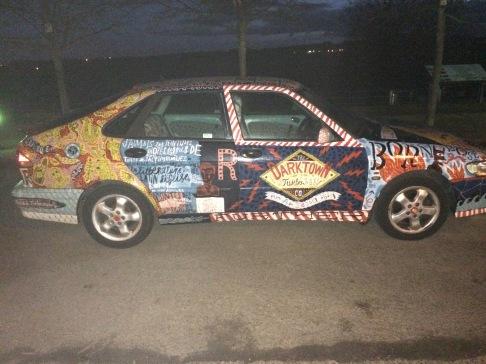 Jonny Hannah's motor car
